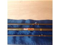 """Vintage milbro 9ft 6"""" trufly fly rod excellent condition"""