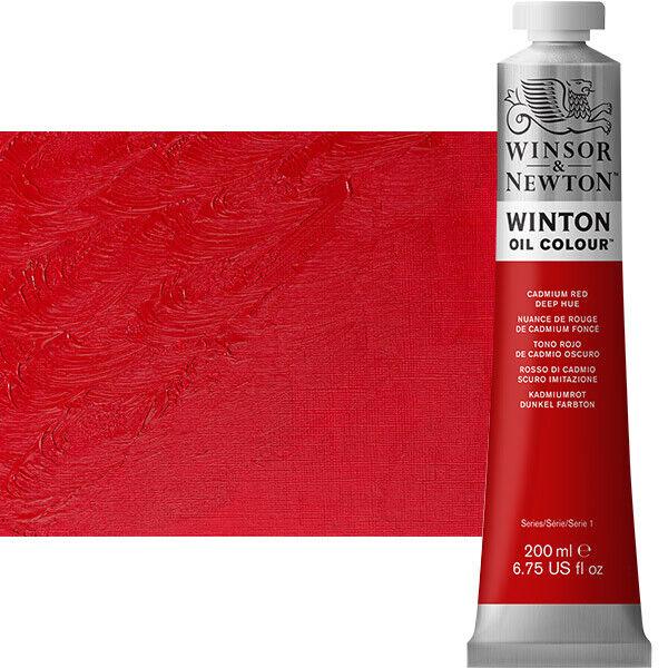 Winton Oil Color 200 ml Tube - Cadmium Red Deep Hue