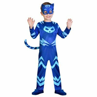 Catboy PJ Masks Costume Boys Pyjama  Superhero Fancy Dress Outift Childs License
