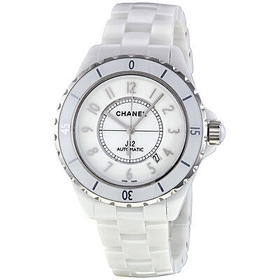 Chanel J12 Automatic 42mm H2981 White Ceramic Box and Papers Ret: $6,250