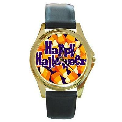 HAPPY HALLOWEEN CANDY CORN GOLD-TONE WATCH PLUS 3 OTHER STYLES TO CHOOSE FROM! ()