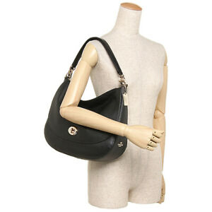 COACH BLACK CROSSBODY OR SHOULDER HOBO BAG