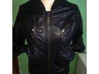 Black River Island Leather Jacket 10