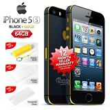 Factory Unlocked APPLE iPhone 5s Black Gold Limited Edition 64GB 4G Smartphone