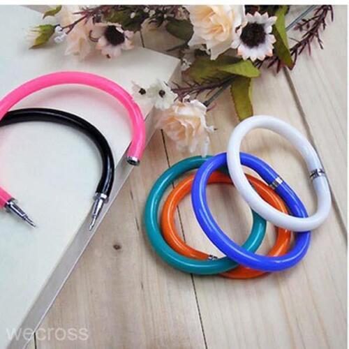 2016 Colorful Plastic Bangle Bracelet Wristlet Circlet Ball Point Pen Ballpoint