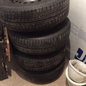 225/60R15 Michelin X ice winter tires Cornwall Ontario image 1