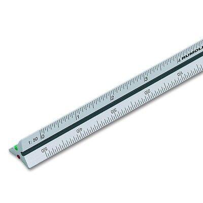 Alu-Dreikantmaßstab 30 cm Rumold 195/DIN/30, DIN-Teilung