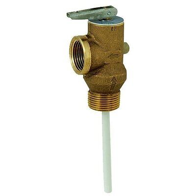 Brass 34 Hot Water Tank Temp Pressure Relief Valve - Self Closing