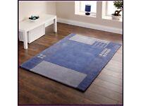 Modern Hong Kong large blue rug 150cm x 230cm