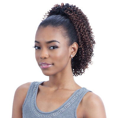 (KINKY JERRY GIRL - FREETRESS EQUAL DRAWSTRING SYNTHETIC PONYTAIL)