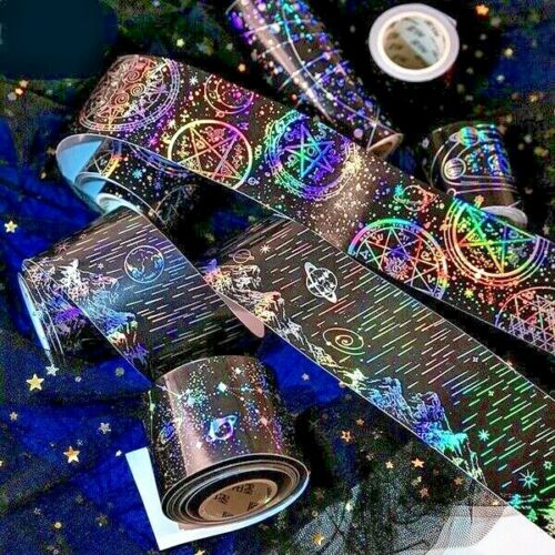 Laser Foil Space Shimmer Scrapbooking Supplies Washi Sticker Tape Roll