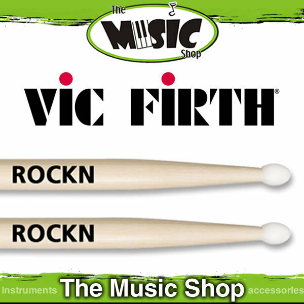 12 Pairs of Vic Firth American Classic Rock Drumsticks with Nylon Tip - ROCKN