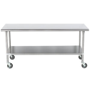Stainless Steel Worktable (30 x 72 inches)
