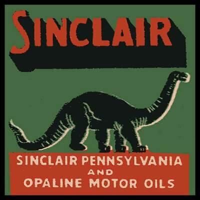 Sinclair Dinosaur Pennsylvania And Opaline Motor Oils Fridge Magnet
