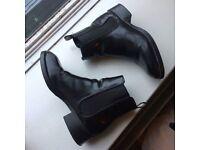 Zara Black Chelsea Ankle Boots UK 5