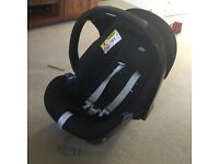 Black mamas and papas cybex car seat - compatible with isofix base which I am selling for £40