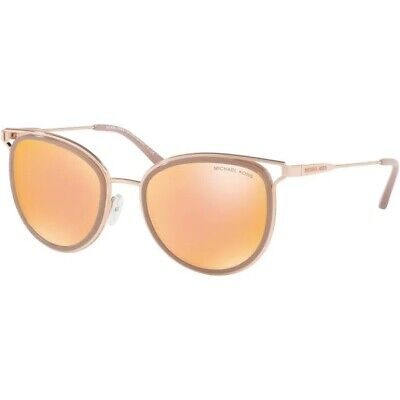 MICHAEL KORS MK1025 12017J Havana Rose Gold Milky Pink Lqd 52 Women's Sunglasses