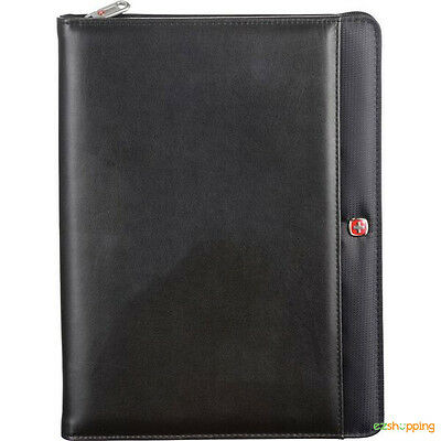Black Executive Wenger Business Office Organizetech Zippered Padfolio Bundle Set