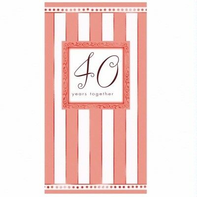 8 X RUBY WEDDING ANNIVERSARY INVITATIONS 40 YEARS INVITES PARTY 40th GUESTS NEW (40th Anniversary Invitations)