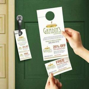 Custom Printing - Door hangers, Business card boxes, T-shirts