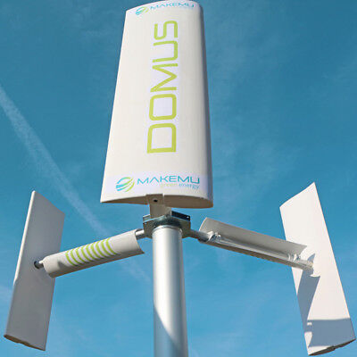 Mini Vertical Axis Wind Turbine Generator Darrieus Savonius House Roof Garden