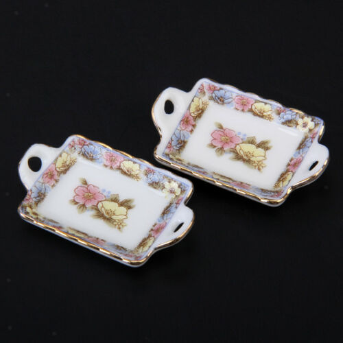 40 pcs 1:12 Dollhouse Miniature Dining Ware Porcelain Tea Set Cup Dish Cups