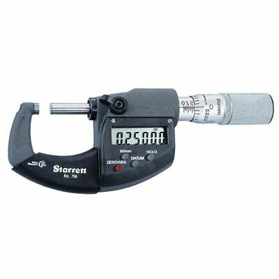 Starrett 796.1xfl-1 0-1 Electronic Micrometer Ip67 Without Output