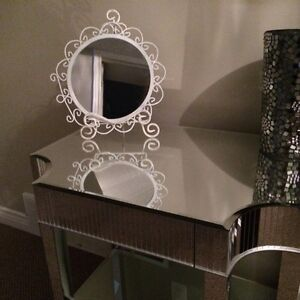 Simple elegant white mirror $25