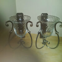 Partylite Soliloquy Wall Sconces Pair
