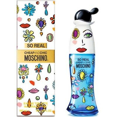 SO REAL CHEAP & CHIC by Moschino 3.4 OZ EAU DE TOILETTE SPRAY NEW in Box WOMEN](Cheap Boxes)