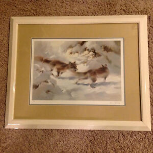 New Snow - Foxes Art print by Manfred Schatz limited edition