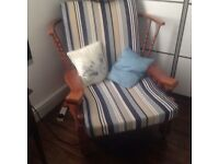 Solid wood sturdy chair