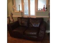 Lovely two seater leather settee