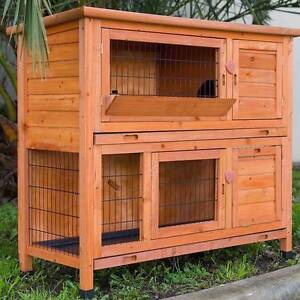 Double Storey Rabbit,Ferret,Guinea Pig Cage Run Hutch Tray Mordialloc Kingston Area Preview