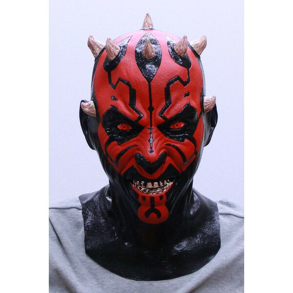 star wars mask darth maul rubber mask cosplay party toy halloween made in japan - Halloween Darth Vader