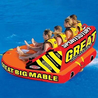 New Great Big Mable 4 Person Towable Raft Ski water Tube new in box