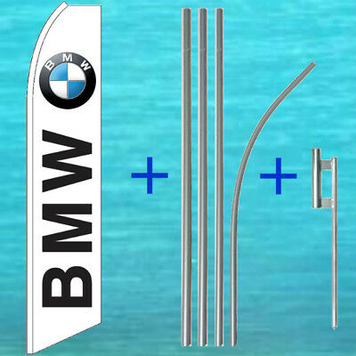 Bmw Wind Flutter Flag Pole Mount Kit Tall Curved Sign Feather Swooper Banner