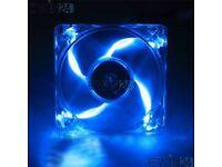 High Quality Computer PC Blue LED Neon Fan Heatsink Cooler 12V
