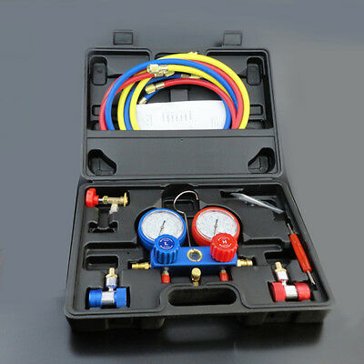 AC Refrigeration Kit Manifold Gauge Air R12 R22 R134a 410a R404z high/low side 1 for sale  Shipping to Canada