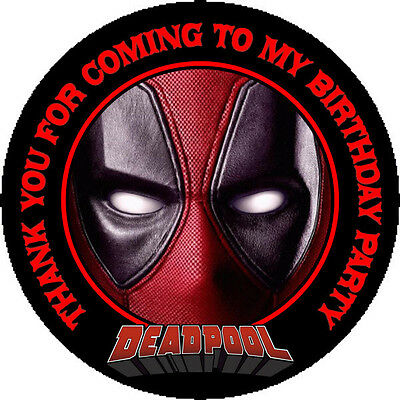 12 Deadpool Birthday Party Favor Stickers (Bags Not Included) #1 - Deadpool Party Supplies
