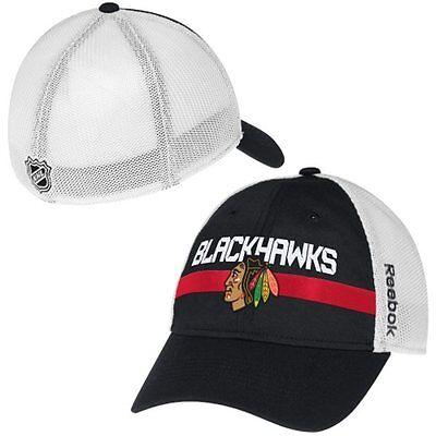 Chicago Blackhawks Head Logo Mesh Player Cap Reebok Center Ice Official NHL Hat