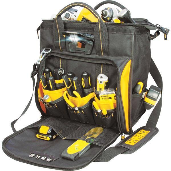 Dewalt DGL573 41-Pocket LED Lighted Technician's Tool Bag