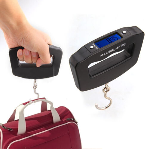 Hot 50kg/10g Electronic Digital LCD Weight Scale Hook For Hanging Luggage Pocket