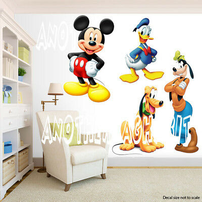Mickey Mouse Room Decor (Mickey Mouse Pluto Donald and Goofy Room Decor -  Wall Decal Removable)