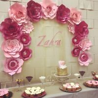 Baby shower backdrop/ party decor paper flowers