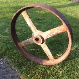 Antique iron wheel.