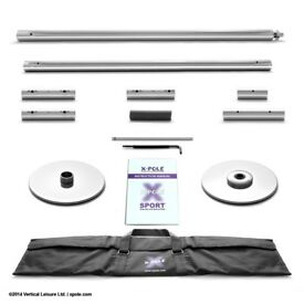 40 mm Chrome X-Pole Sport (static) bundle for aerial and pole fitness