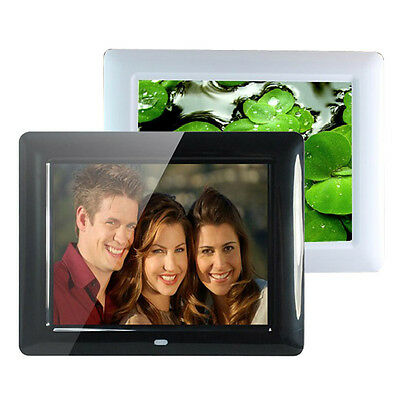"8"" HD TFT-LCD Digital Photo Movies Frame Alarm Clock MP3 MP4 Player Remote UK"