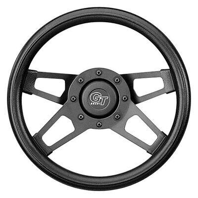 Foam Padded Steering Wheel - Grant 414 4-Spoke Challenger Style Black Cushioned Foam Steering Wheel