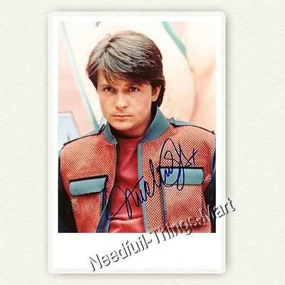 Michael J. Fox - Back To The Future / Teen Wolf -  Autogrammfotokarte [AK01] 